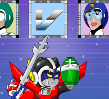Mega Voltron Sticker