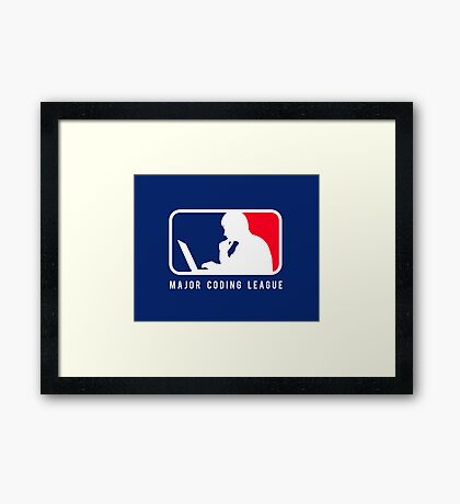 Major Coding League Framed Print