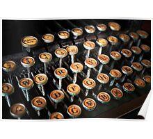 Vintage TypeWriter II Poster