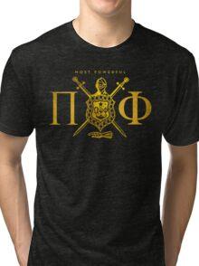 Most Powerful Pi Phi Tri-blend T-Shirt