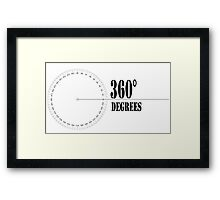 360° (Degrees Line) Clothing and Accesories [Black] Framed Print