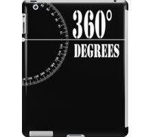 360° (Degrees Line) Clothing and Accesories [Black] iPad Case/Skin