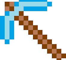 Minecraft Diamond Pickaxe by callmeJkay