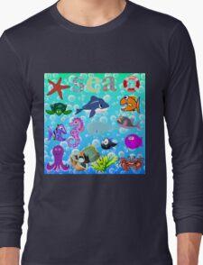 Sea Animals Long Sleeve T-Shirt