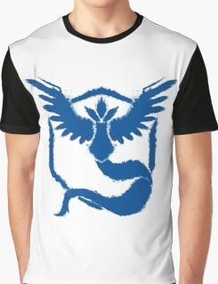 Team Mystic - Grunge Blue Graphic T-Shirt
