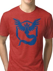 Team Mystic - Grunge Blue Tri-blend T-Shirt