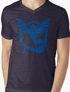 Team Mystic - Grunge Blue Mens V-Neck T-Shirt