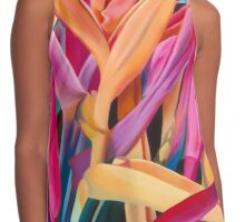 Insanely Lush Pink Tropical Contrast Tank