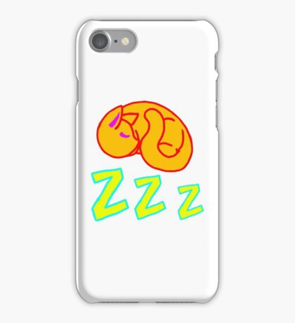Sleepy Orange Cat - ZZZ iPhone Case/Skin