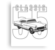 1955 Classic Vintage American Car Canvas Print