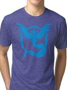 Team Mystic - Grunge Light Blue Tri-blend T-Shirt