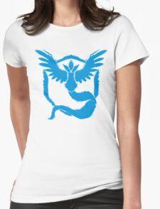 Team Mystic - Grunge Light Blue Womens Fitted T-Shirt