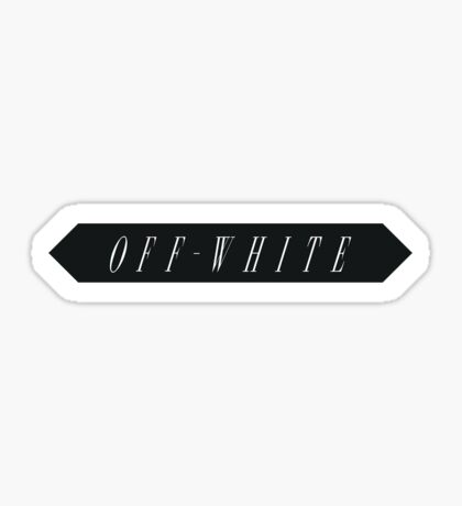 Off White Sticker Sticker