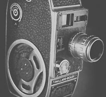 Black Vintage Video Camera by vintageblue