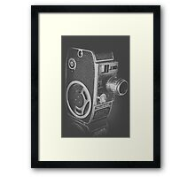 Black Vintage Video Camera Framed Print