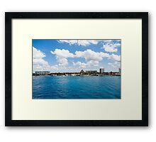 Coast of Cozumel  Framed Print