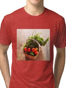 From Michelle's garden . . . a basket of goodies . . . Kilmore East Tri-blend T-Shirt
