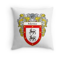 Montes Coat of Arms/Family Crest Throw Pillow