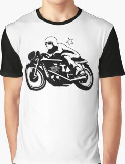Vintage Motorcycle Racer Graphic T-Shirt