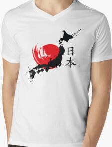Japan Mens V-Neck T-Shirt
