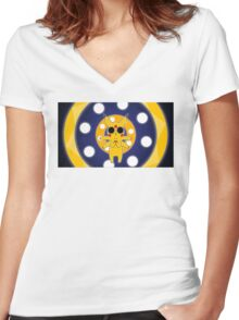Pikachu Trippen On Sum Cid Women's Fitted V-Neck T-Shirt
