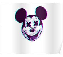 VHS Retro Hipster Mickey Poster