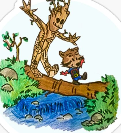 Groot and Rocket Sticker