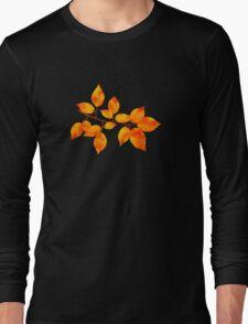 Orange Cherry Leaf Art Long Sleeve T-Shirt