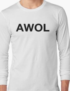 AWOL (Black Print) Long Sleeve T-Shirt