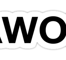 AWOL (Black Print) Sticker