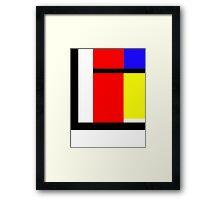 blocky style Framed Print