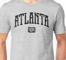 Atlanta 404 (Black Print) Unisex T-Shirt