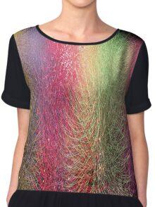 Color Burst Chiffon Top