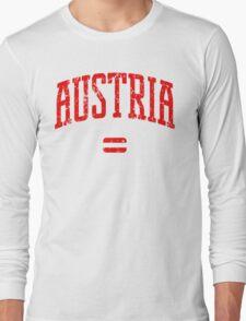 Austria (Red Print) Long Sleeve T-Shirt