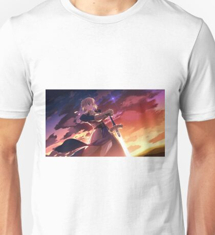 Fate/stay night: Unlimited Blade Works Saber Unisex T-Shirt