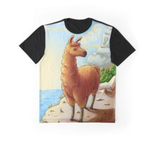 Majestic Llama Graphic T-Shirt