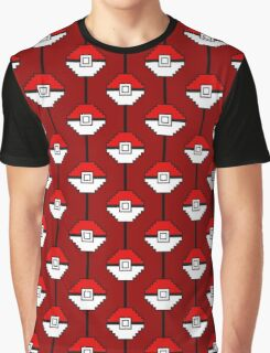 Red Pokéball Madness Graphic T-Shirt