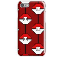 Red Pokéball Madness iPhone Case/Skin