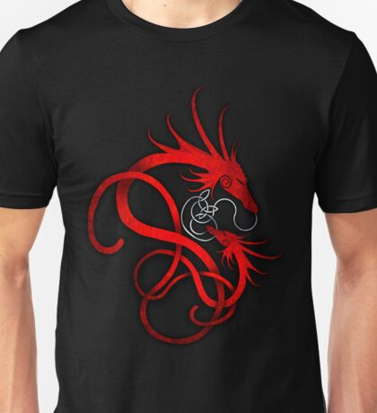 Red Norse Dragon and Child Unisex T-Shirt