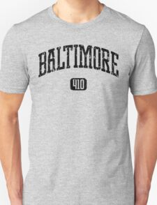 Baltimore 410 (Black Print) T-Shirt