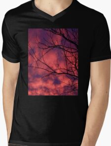 Winter Sunset Perfection Mens V-Neck T-Shirt