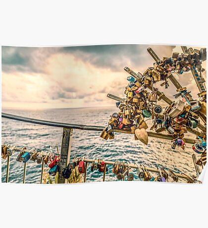 Riomaggiore, padlocks of love. Poster