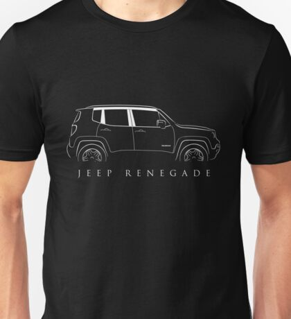 Jeep Renegade BU - Profile Stencil, white Unisex T-Shirt