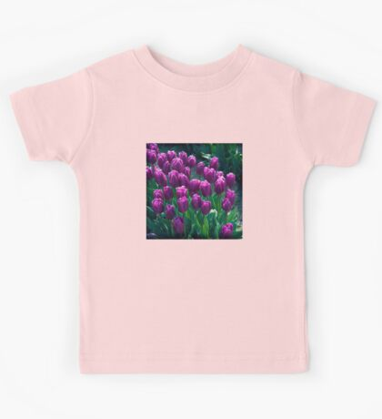 Purple Tulips  Kids Tee