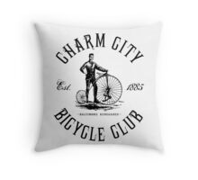 Baltimore Bicycle Club Throw Pillow