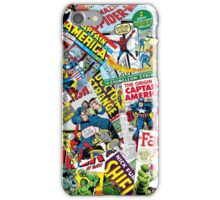 marvel comics pattern iPhone Case/Skin