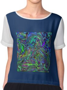 Abstract Beauty - A Rainbow of Dark and Light Chiffon Top
