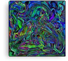 Abstract Beauty - A Rainbow of Dark and Light Canvas Print