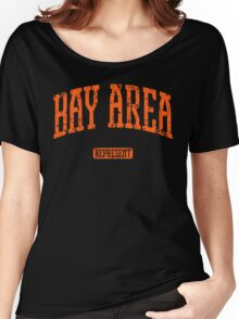 Bay Area Represent (Orange Print) Women's Relaxed Fit T-Shirt
