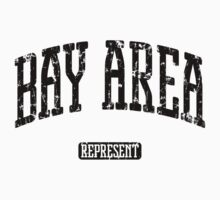 Bay Area Represent (Black Print) Kids Tee